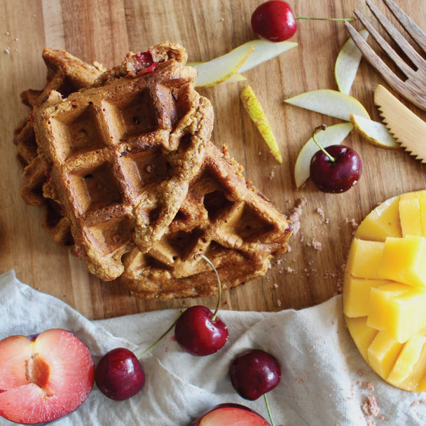 Riberry and Plum Waffles