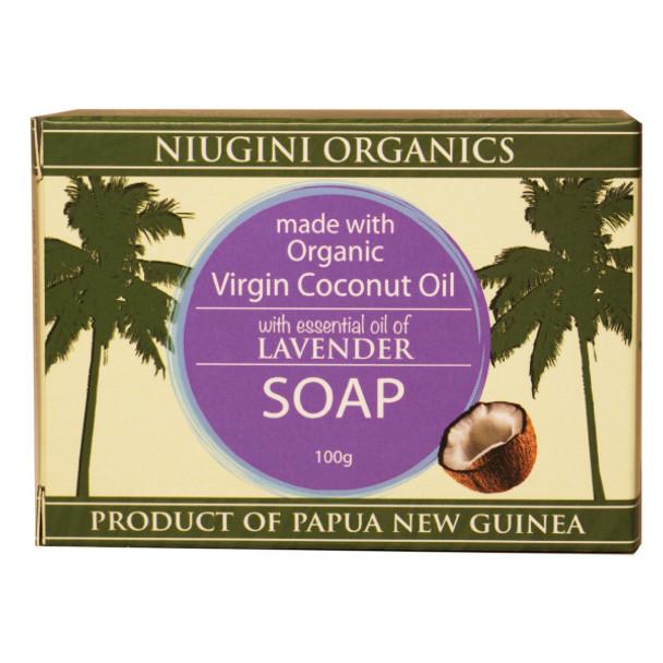 Organic Lavender Coconut Soap 100g