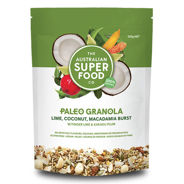Paleo Granola - Lime, Coconut, Macadamia Burst 320g