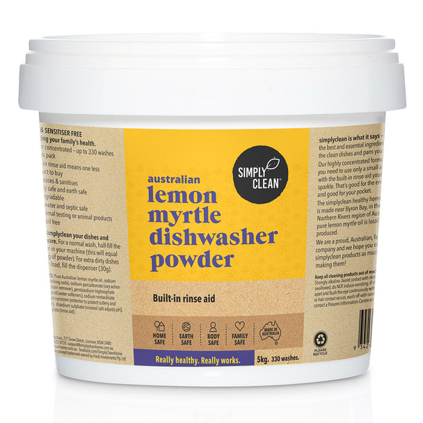 Lemon Myrtle Dishwasher Powder 5KG