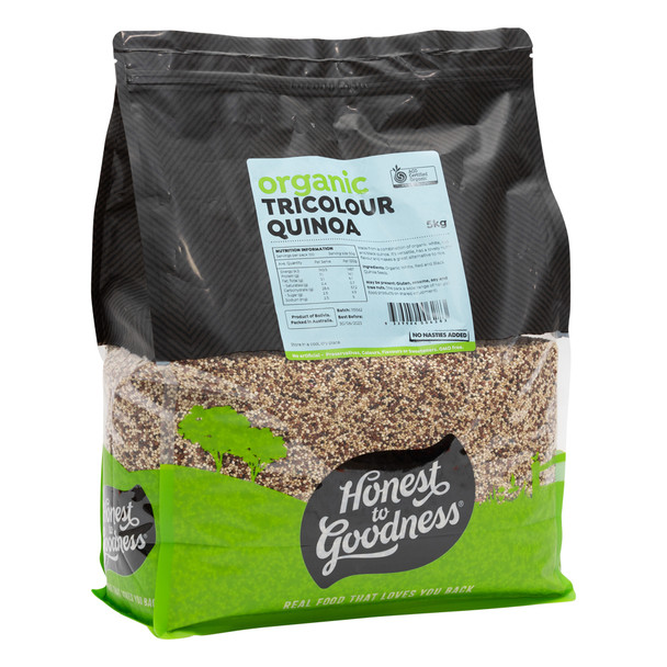 Organic Tricolour Quinoa 5KG