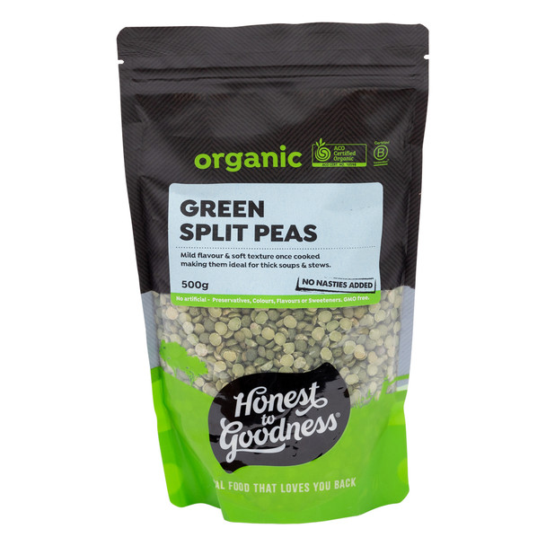 Organic Green Split Peas 500g