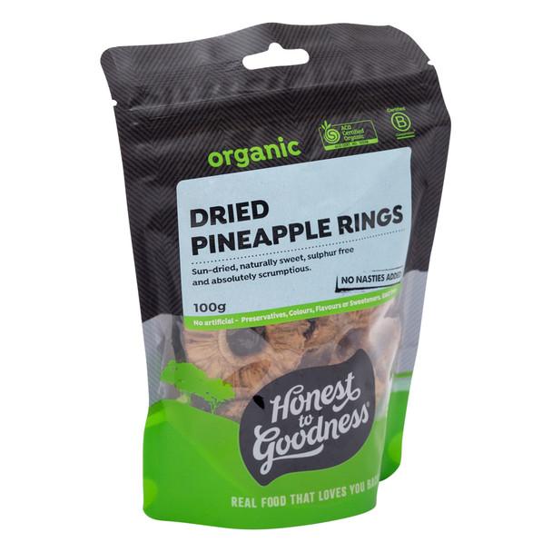 Organic Dried Pineapple Rings 100g