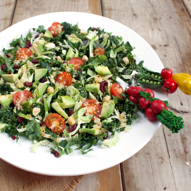 Kale, Brussels Sprout, Cranberry & Quinoa Salad
