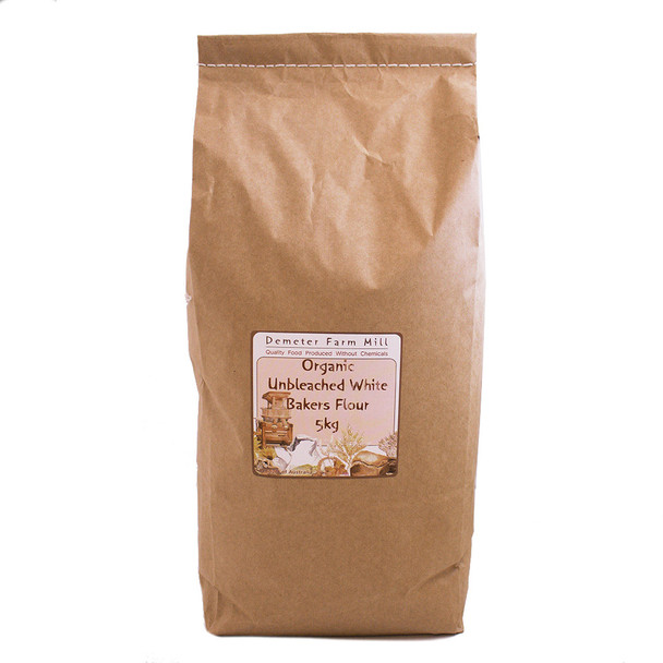 Wholegrain Milling Organic Unbleached White Bakers Flour