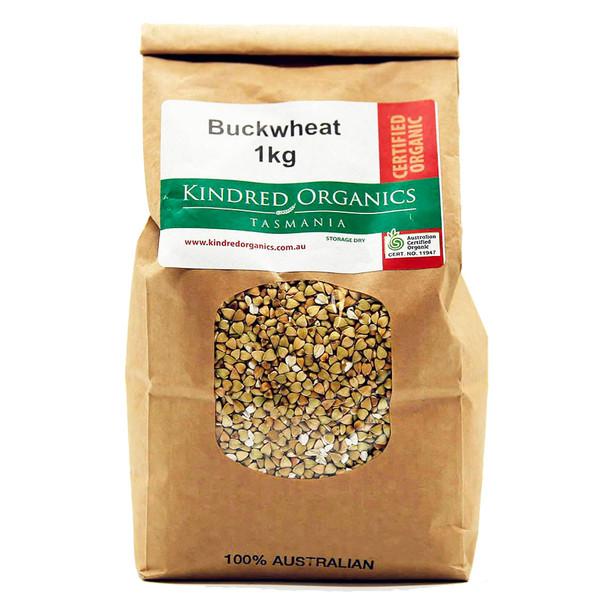 Kindred Organics Australian Hulled Buckwheat 1KG
