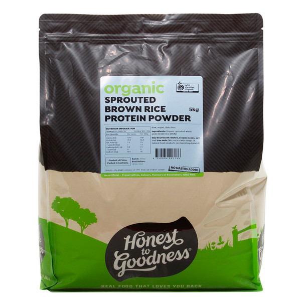 Honest to Goodness Organic Sprouted Brown Rice Protein Powder