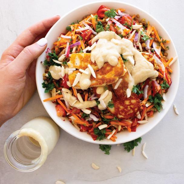 Haloumi & Lentil Summer Salad