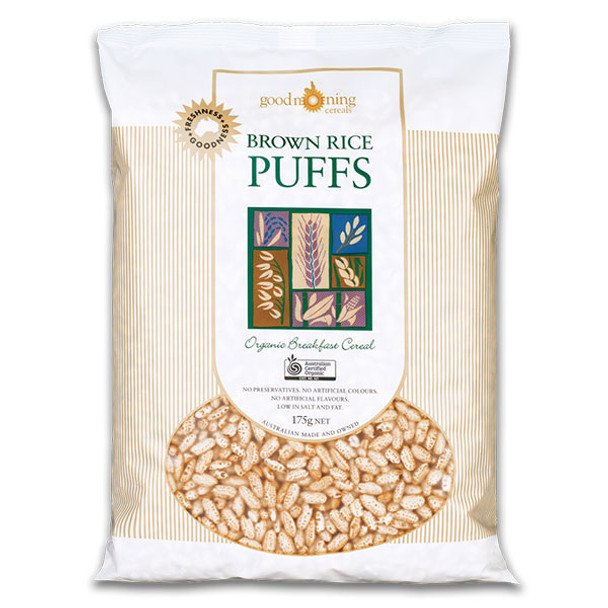 Good Morning Cereals Organic Puffed Brown Rice 175g