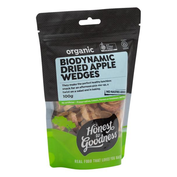 Biodynamic Dried Apple Wedges 100g