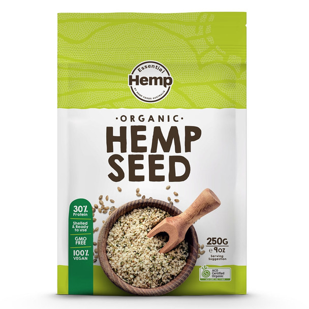 Essential Hemp Organic Hulled Hemp Seeds 250g