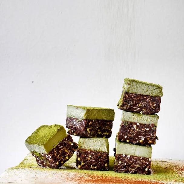 Chocolate Matcha Bars