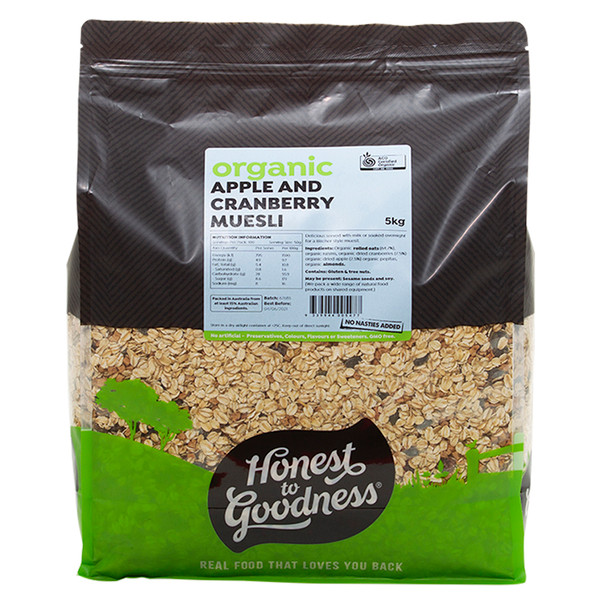 Honest to Goodness Organic Apple & Cranberry Muesli