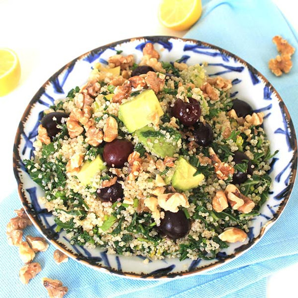 Quinoa, Kale and Cherry Salad