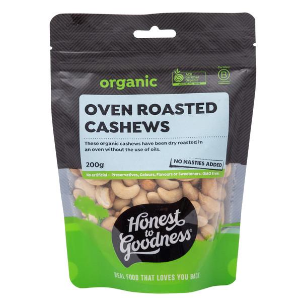 Organic Oven Roasted Cashews 200g