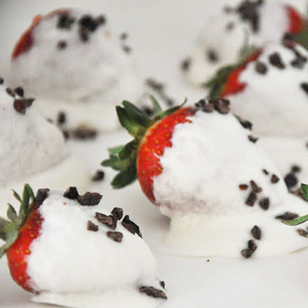 Coconut Butter Dipped Strawberries