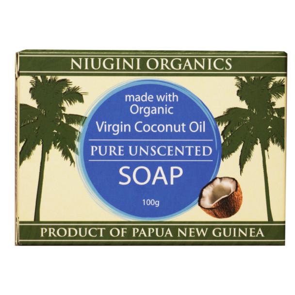 Organics Pure Unscented Coconut Soap 100g
