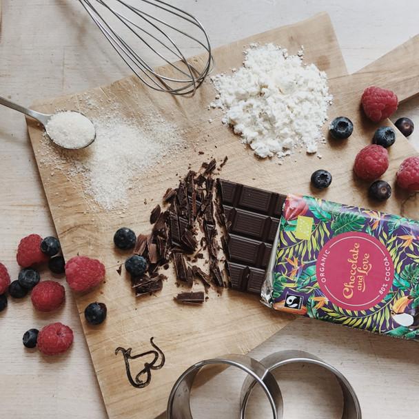 Chocolate and Love Fairtrade Organic Panama 80% Dark Chocolate 80g