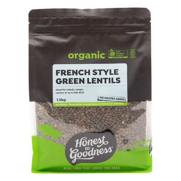 Organic French Style Green Lentils 1.5KG