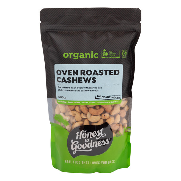 Organic Oven Roasted Cashews 500g