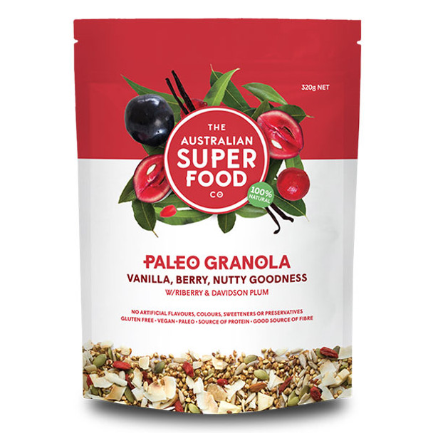 Paleo Granola -  Vanilla, Berry, Nutty Goodness 320g