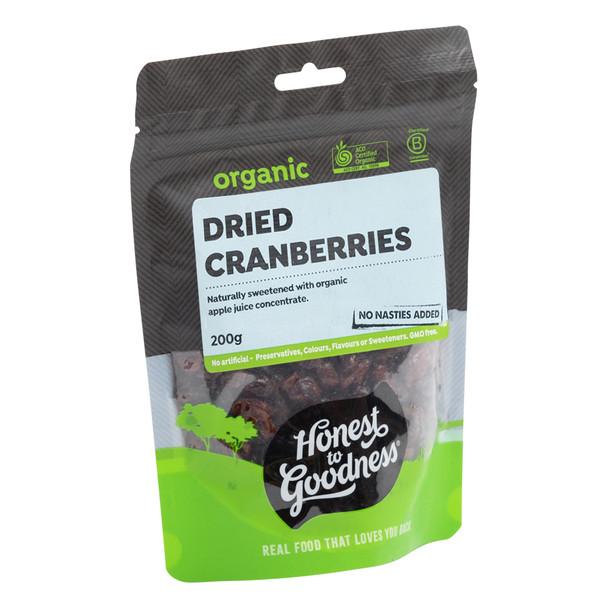 Organic Dried Cranberries 200g