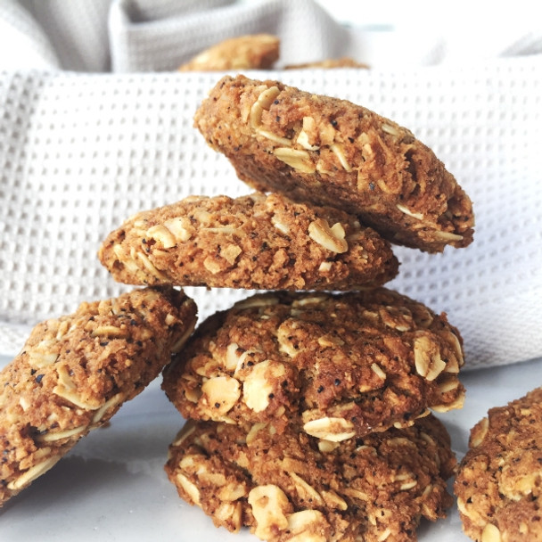 Coconut & Wattleseed ANZAC Biscuits