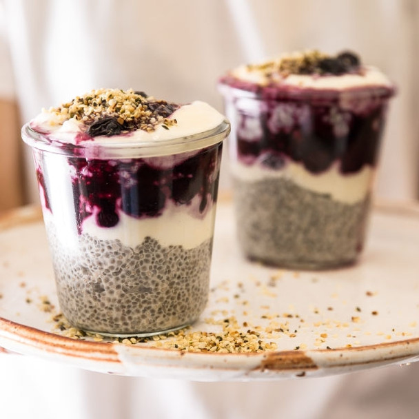 Vanilla and Hemp Chia Parfait