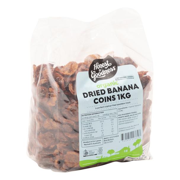 Organic Dried Banana Coins 1KG