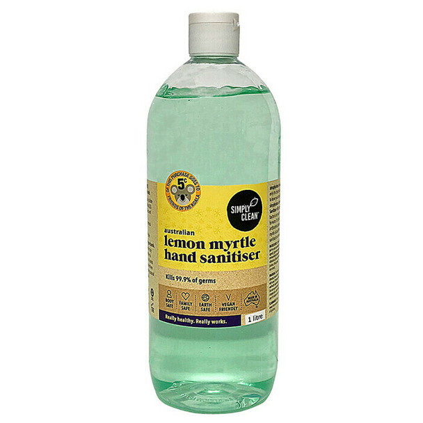 Simplyclean Lemon Myrtle Hand Sanitiser 1L