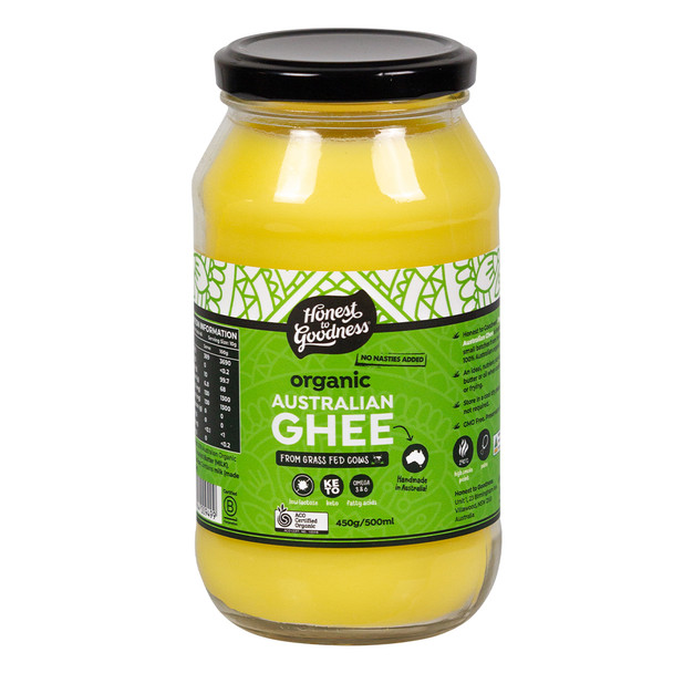 Honest to Goodness Organic Australian Grass Fed Ghee