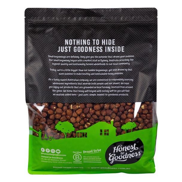 Organic Hazelnuts 4KG