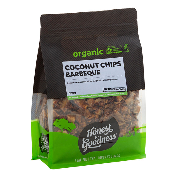 Organic Coconut Chips - Barbeque 500g