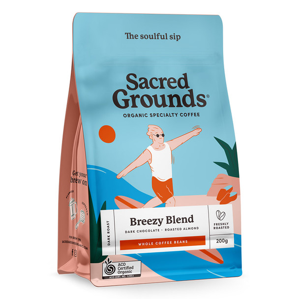 Organic Breezy Blend Coffee Beans 200g