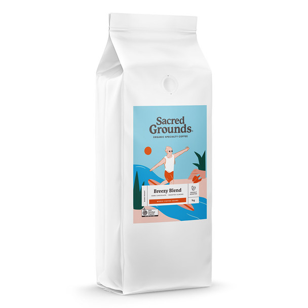 Organic Breezy Blend Coffee Beans 1KG