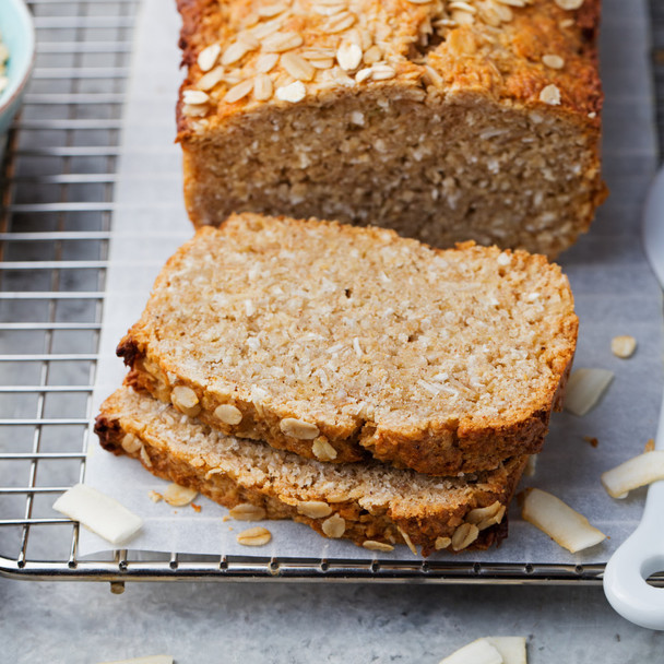 Banana, Coconut & Oat Bread