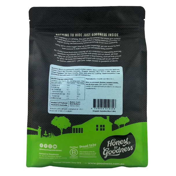 Organic Jasmine Rice 1.5KG
