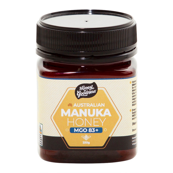 Honest to Goodness Australian Manuka Honey MGO 83+
