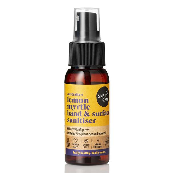 Lemon Myrtle Hand & Surface Sanitiser 50ml