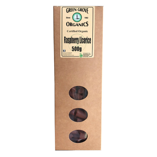 Green Grove Organic Raspberry Licorice 500g