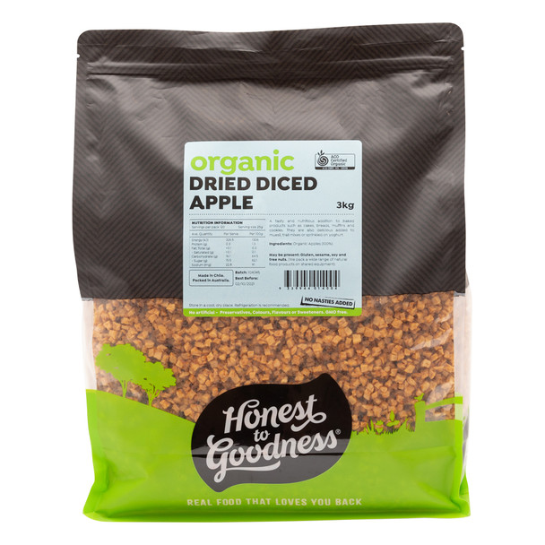 Organic Dried Diced Apple 3KG