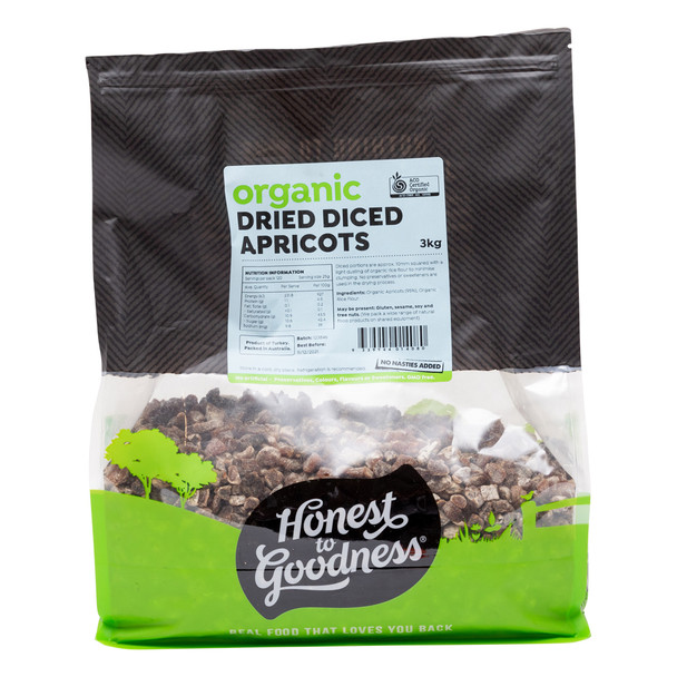 Organic Dried Diced Apricots 3KG
