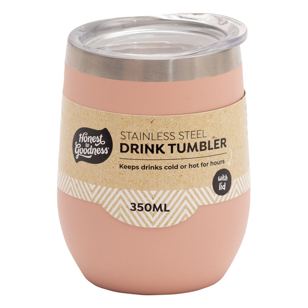 Stainless Steel Drink Tumbler 350ml - Pink