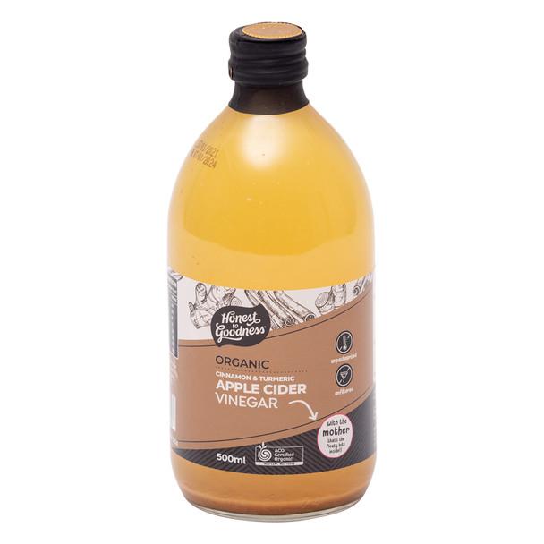 Organic Apple Cider Vinegar with Cinnamon & Turmeric 500ml