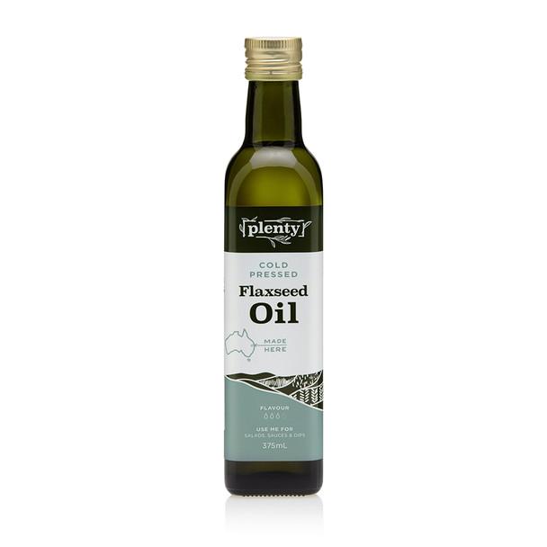 Flaxseed Oil - Cold Pressed 375m, Plenty Foods