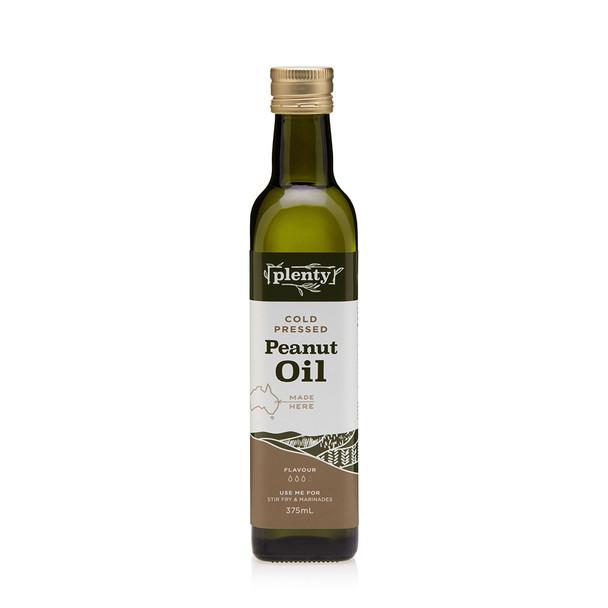 Peanut Oil - Cold Pressed 375m, Plenty Foods