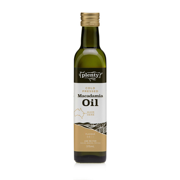 Macadamia Oil - Cold Pressed 375ml, Plenty Foods