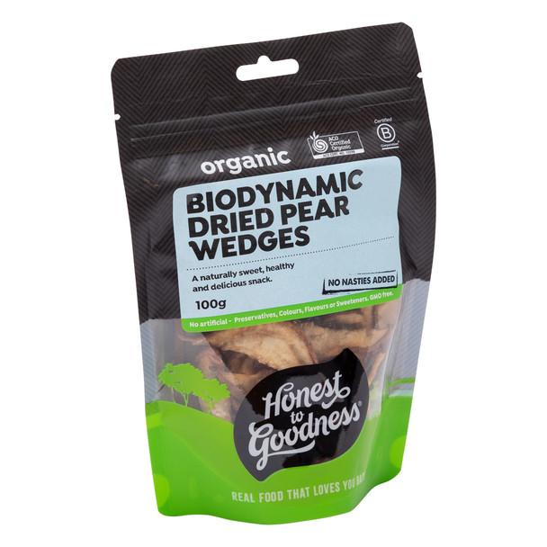 Biodynamic Dried Pear Wedges 100g