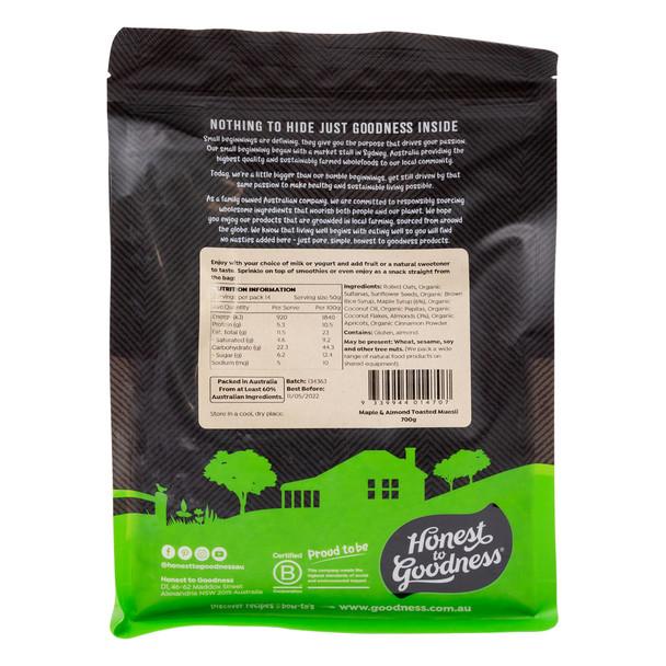 Maple & Almond Toasted Muesli 700g