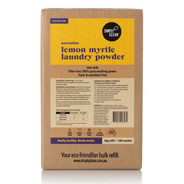 Lemon Myrtle Laundry Powder Box 4KG